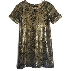 Laundry by Shelli Segal Gold Sequin Sheath Dress